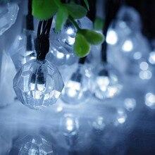 6M 30LED Light String Diamond Solar Light Outdoor Garden string lights Waterproof Decoration Christmas Day Holiday String Lights