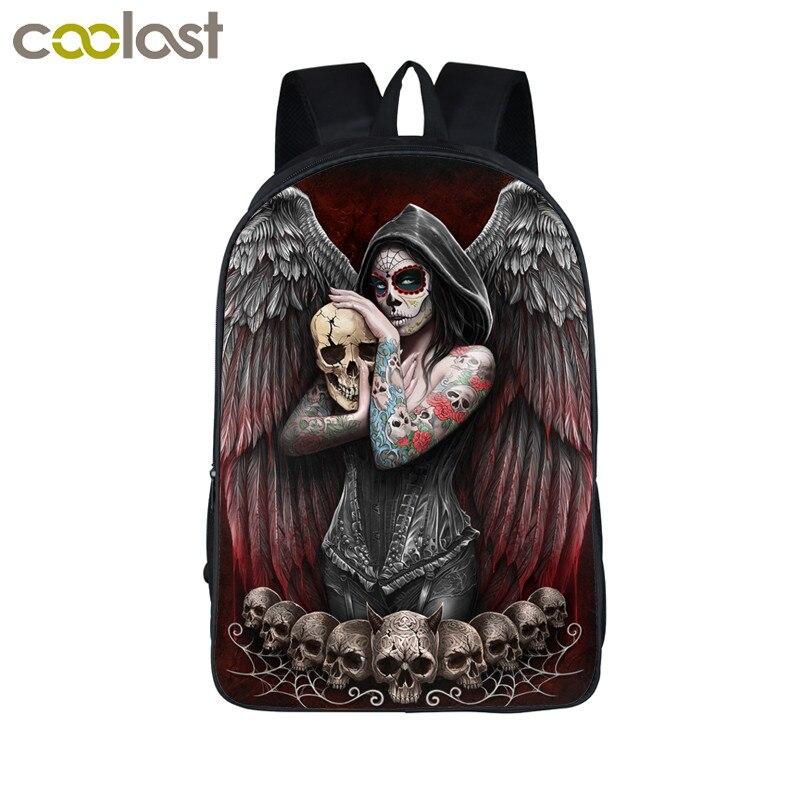 Dark Gothic Angel / Grim Reaper Skull / Animal Wolf ...