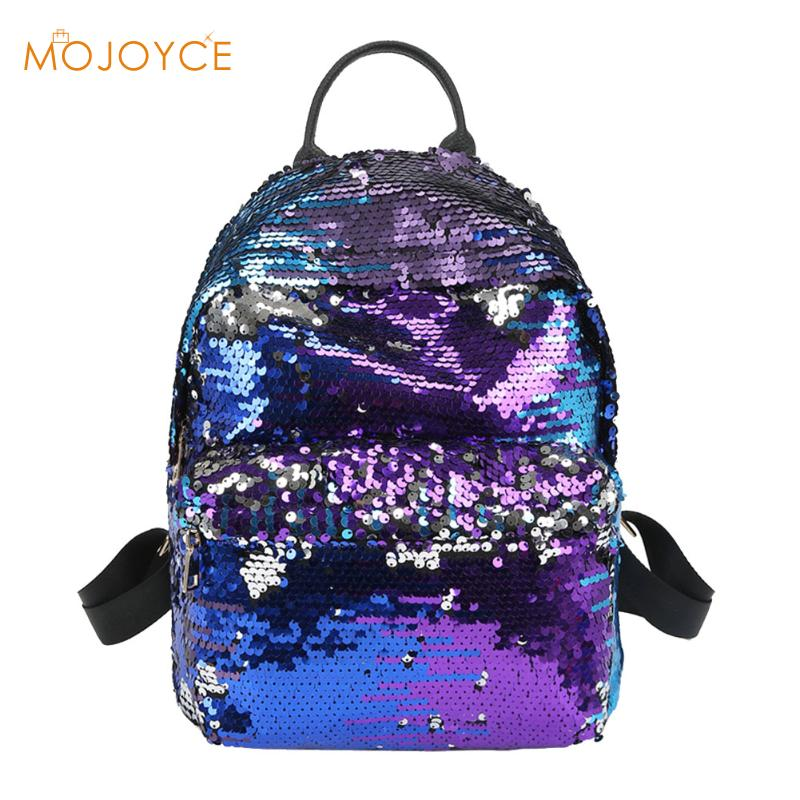 Sequins Backpacks Women PU mochila Shine Backpack Glitter Large Girls Travel Shoulder Bags Fashion Brand Black School Bag female brand women backpack pu leather school backpacks for teenage girls shoulder bag large capacity travel bags