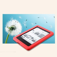For kindle touch case-beautiful high quality silicon pouch case cover for Kindle Touch ( 2012 model) ebook reader book cover