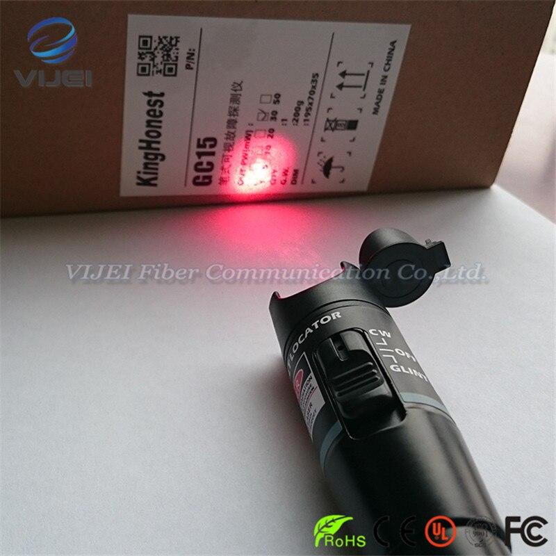 Ferramenta de FTTH De Fibra Óptica Visual Fault Locator VFL 30 mW 30 km Óptico Fonte de Luz Laser Pen Localizador Visual de Falhas tipo caneta 650nm