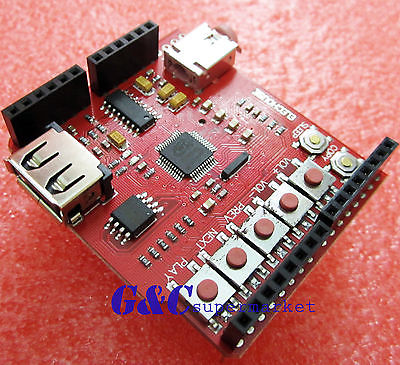 USB-SD U-disk MP3 Music shield board Serial UART interface 64Mbit FlashUSB-SD U-disk MP3 Music shield board Serial UART interface 64Mbit Flash