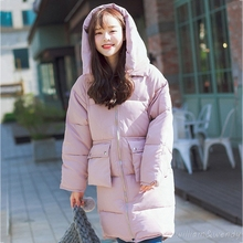 Woman Winter Warm Cloak Windcheater Hooded Manteau Femme Long Big Jacket Thick Maxi Coat Palto Parka Large Size Korean Overcoat