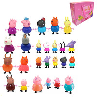 25pcs full range peppa pig figure Toys PVC Action Toys Juguetes Baby Kid Birthday Gift brinque with Exquisite packing box