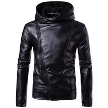 Mens casual Slim 2019 explosion oblique zipper leather jacket England men Fashion jackets mens motorcycle Coats