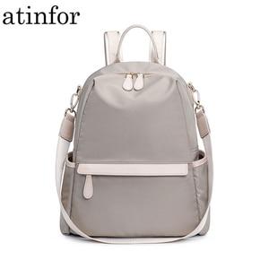 Image 1 - Atinfor à prova dwaterproof água anti roubo náilon pequena mochila feminina bolsa de ombro de viagem mochilas