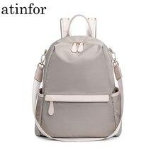 Atinfor sac à dos imperméable Anti vol, petit sac à dos en Nylon pour femmes, à bandoulière, sacoche de voyage