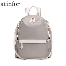 atinfor Waterproof Anti theft Nylon Small Backpack Women Travel Shoulder Purse Bag Backpacks
