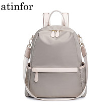atinfor Waterproof Anti theft Nylon Small Backpack Women Travel Shoulder Purse Bag Backpacks(China)