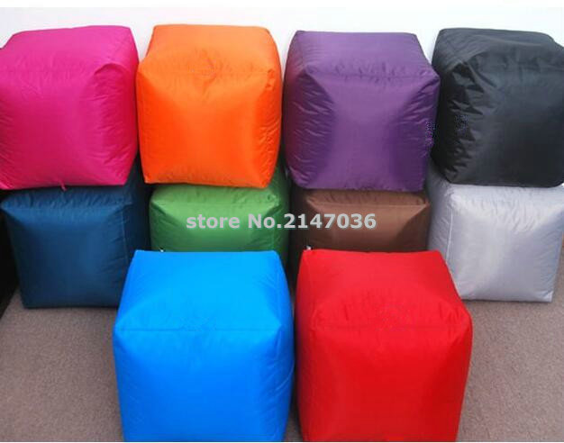 Indoor/Outdoor Big square size 16inch  Bean Bag Ottoman ...