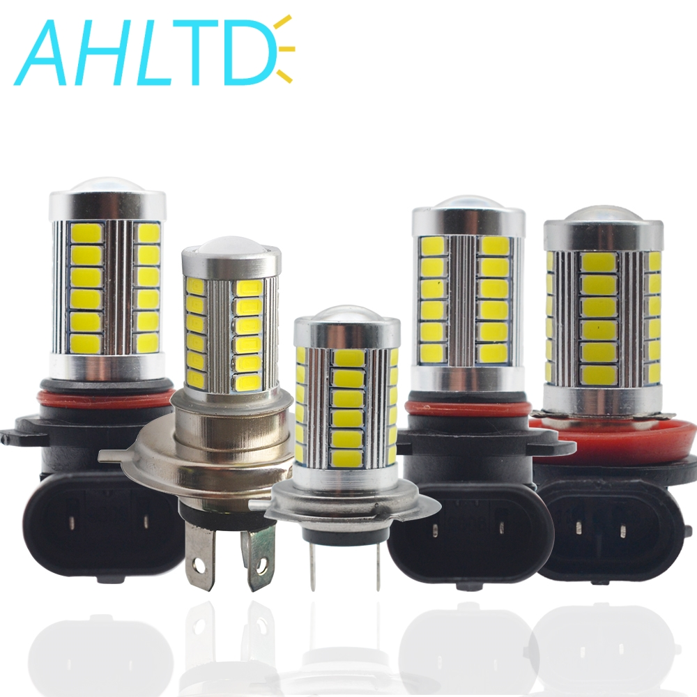 5630 33SMD H4/H7/H11/1156/1157/9006/9005 DC 12V Fog Light 6000K Day Time Running Car Headlight Bright White Turning Parking Bulb