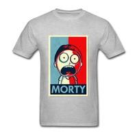 2018 Anime Cool Rick Morty Print Men T Shirt Peace Among Worlds Morty Folk T Shirt