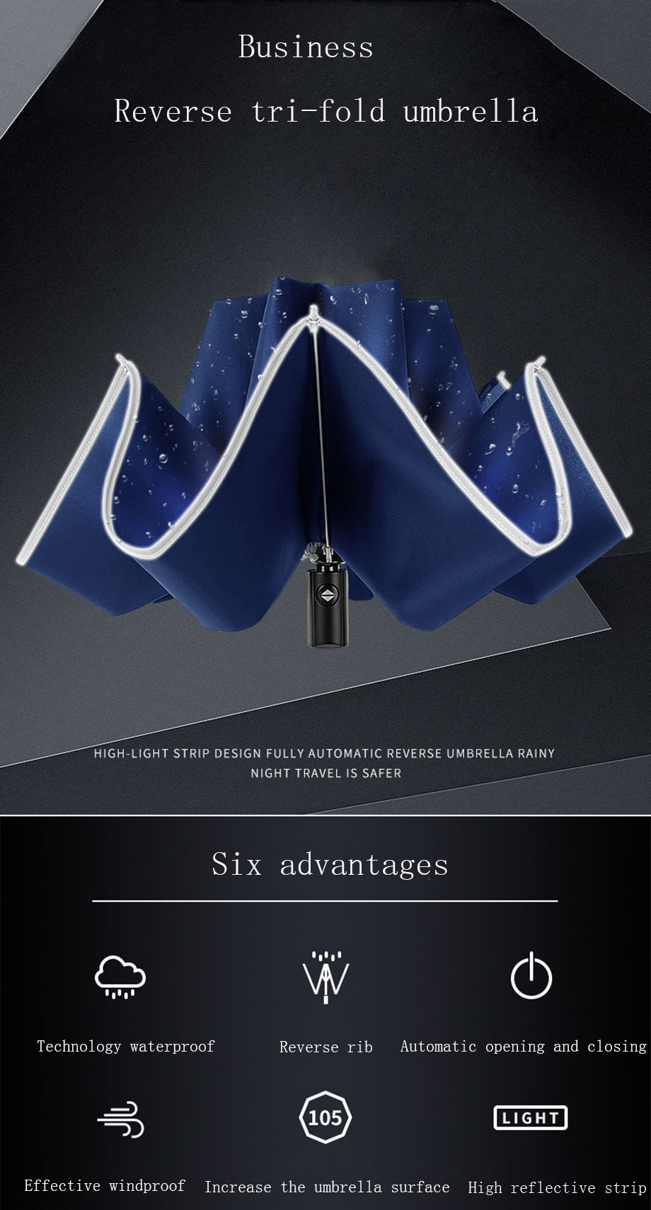Foldable Automatic Umbrella 8