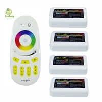 2.4G 4-zone Mi.light wireless RF remote controller for bulb& led strip 1X RGB remote + 4X RGB controller