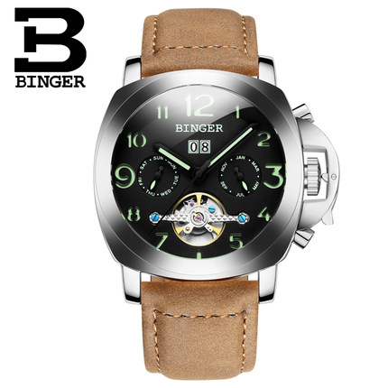 Best Quality Designer Brand Men 2017 Binger Watch Fashion Men Automatic Mens Sports Watches Rose Gold Steel Wristwatch Reloj free drop shipping 2017 newest europe hot sales fashion brand gt watch high quality men women gifts silicone sports wristwatch