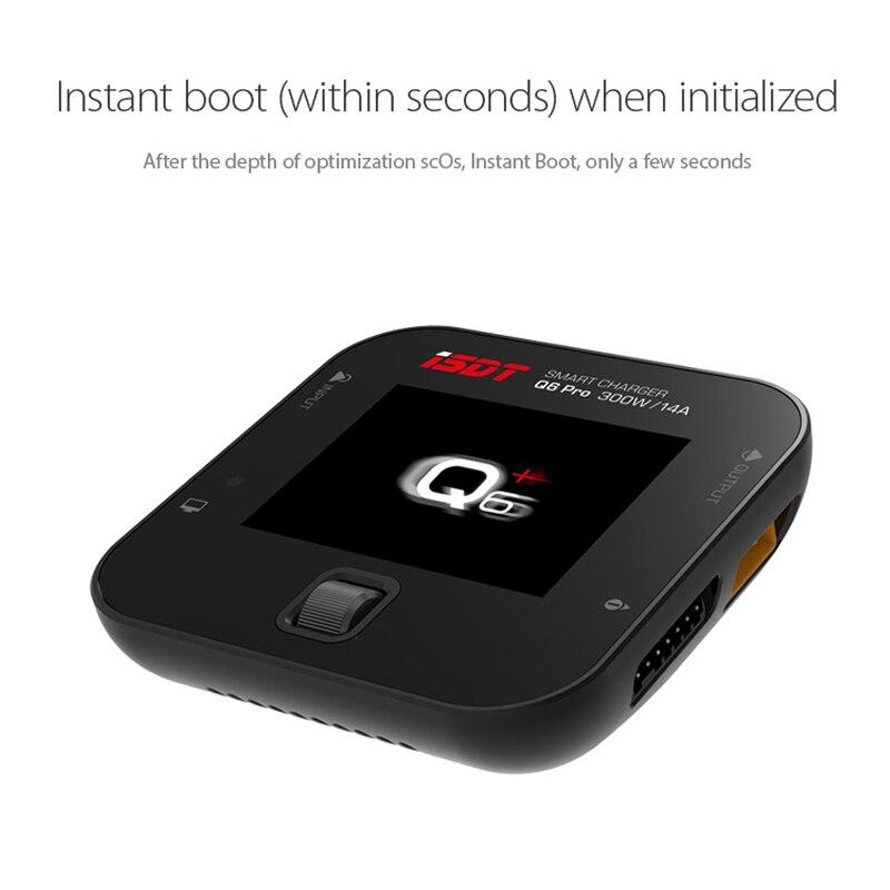 ISDT Q6 Pro 300W 14A MINI pour chargeur de batterie de poche pour pièces RC version anglaise