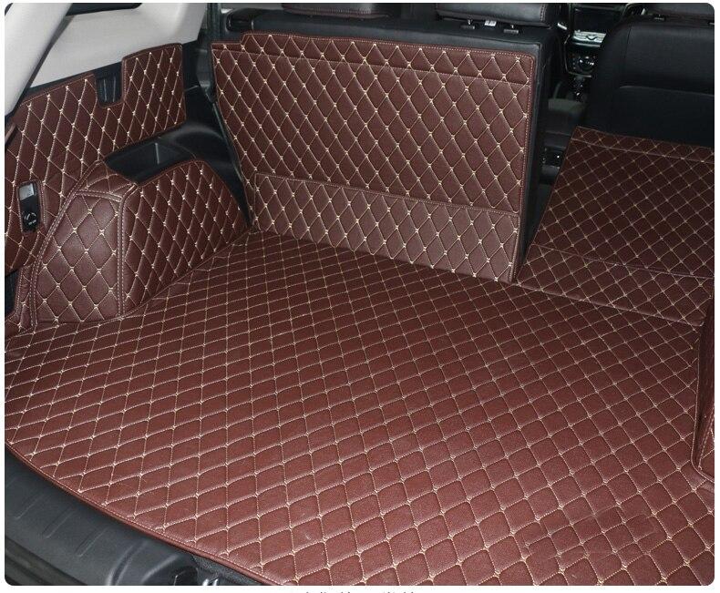 En cuir de fibre de tapis de coffre de voiture pour changan cs75 2014 2015 2016 2017 2018 2019 accessoires de voiture - 4