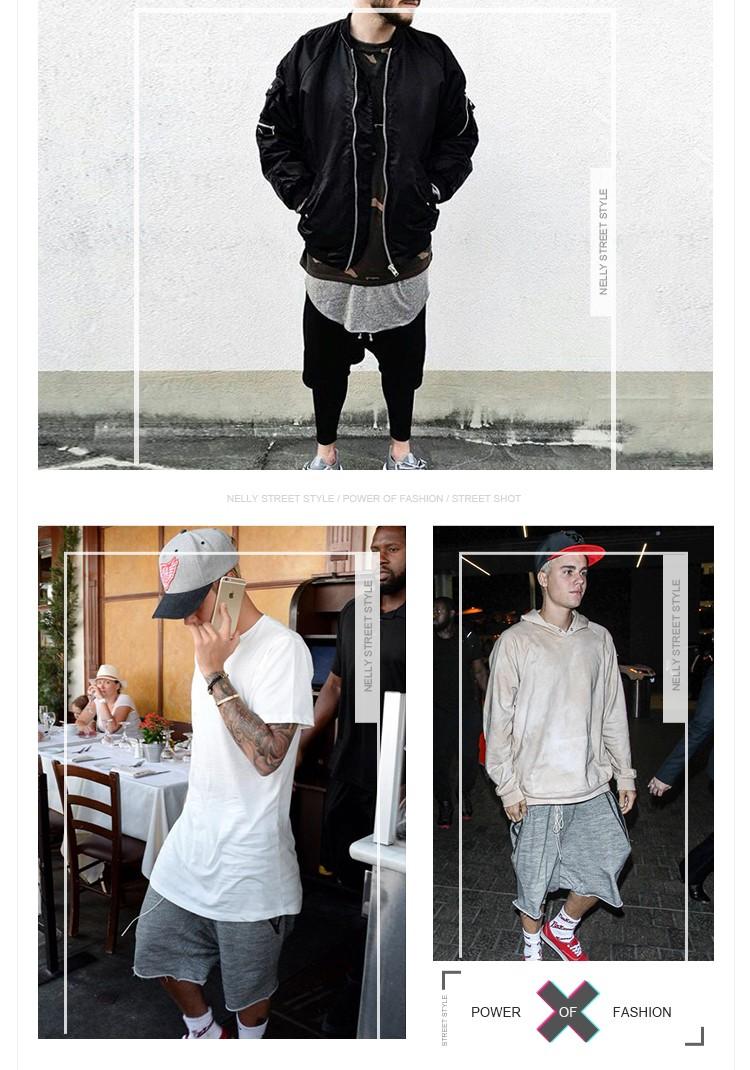 292cb13ead8e 2017 Summer Justin Bieber Kanye West Fashion Unedged Dropped Crotch ...