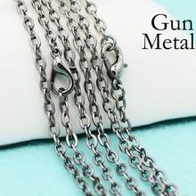 50 pcs - 18/24/30 Inch Gun Metal Chain necklace, Gunmetal Cable Chain, Gun Metal Necklace, Gunmetal Black Chain, Gunmetal Chain fischer audio dubliz gunmetal