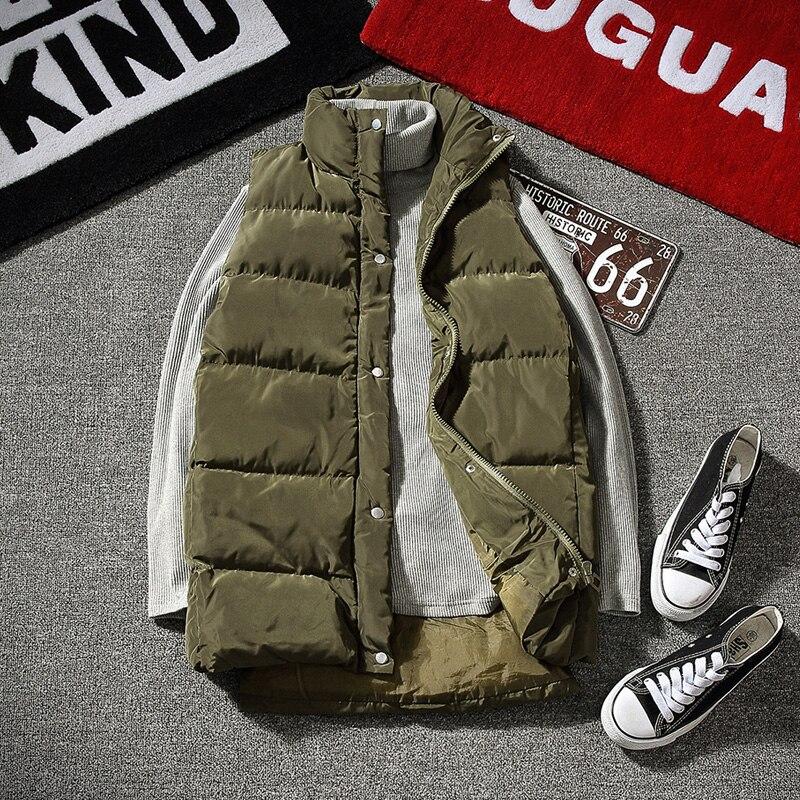 2019, зимние куртки, жилет для мужчин, без рукавов, с принтом, на молнии, пальто для мужчин, пальто, теплое, с капюшоном, жилеты для мужчин размер... - 2