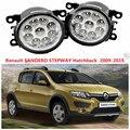 Для Renault Sandero/STEPWAY 2007-2015 для переднего бампера высокая яркость СВЕТОДИОДНЫЕ Противотуманные Фары лампы Автомобилей стайлинг 1 компл.