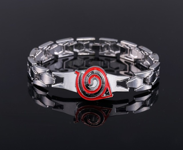 Naruto Metal Red Konoha Bracelets Bangle