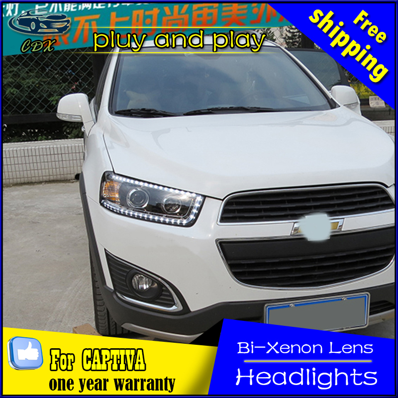 Car Styling LED Head Lamp for Chevrolet Captiva headlights 2008-2014 Captiva led headlight led drl H7 hid Bi-Xenon Lens low beam