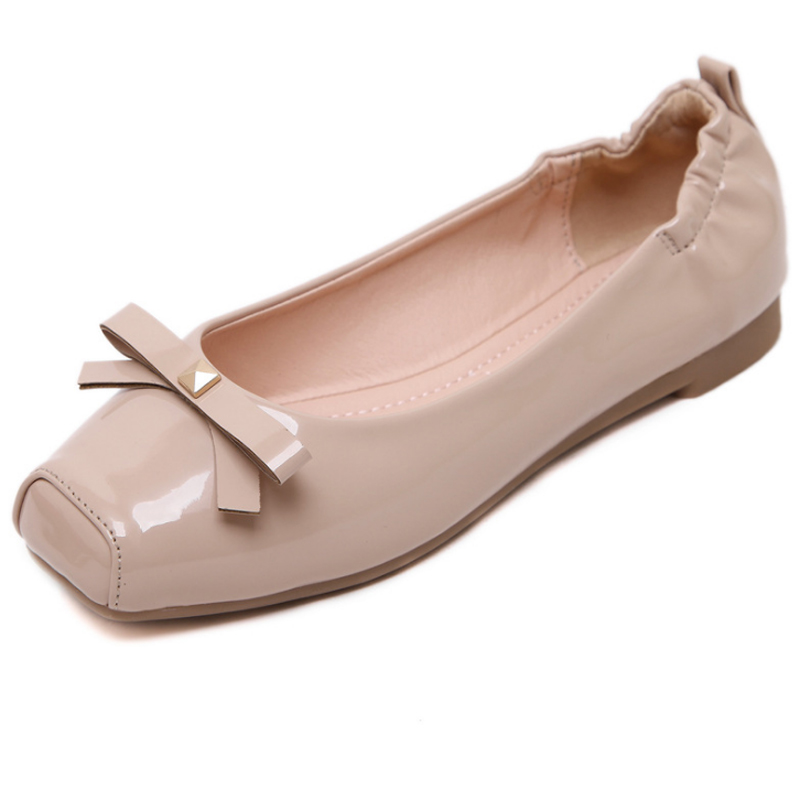 Spring Autumn Women Flats Slip On Square Toe Women Shoes Cute Butterfly-knot Egg Rolls Female Casual Shoes Loafers Zapatos Mujer new shallow slip on women loafers flats round toe fishermen shoes female good leather lazy flat women casual shoes zapatos mujer