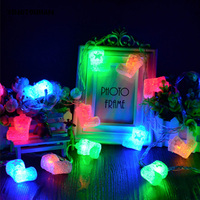 YINGTOUMAN Cute Chrismas Boots Type USB Lamp LED String Light Christmas Holiday Wedding Party Decoration Lighting 8m 40LED