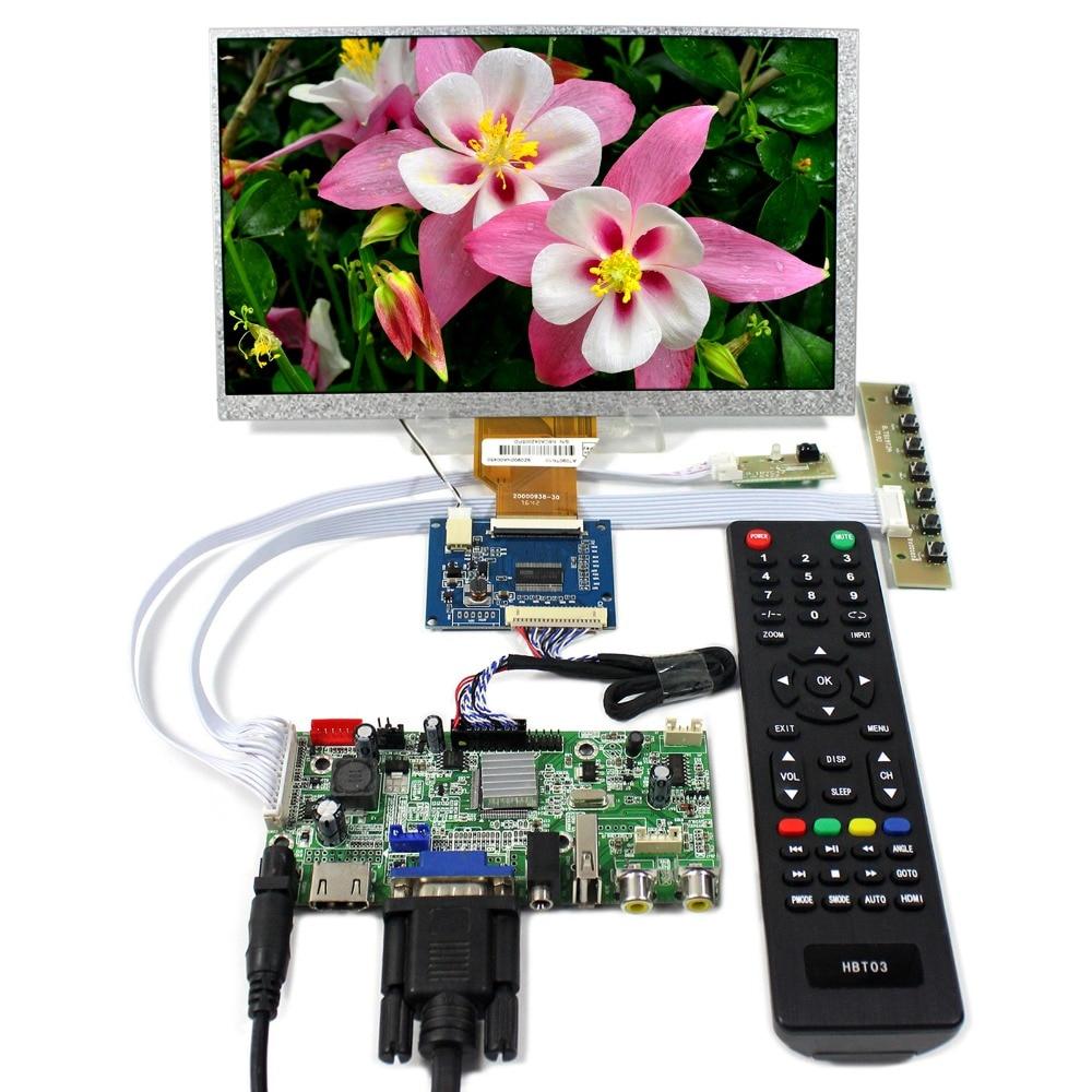 HDMI+VGA+AV+Audio+USB LCD Controller Board With 9inch 800x480 AT090TN10 LCD Screen hdmi vga 2av reversing lcd controller driver board with 6 2inch 800x480 hsd062idw1 lcd panel