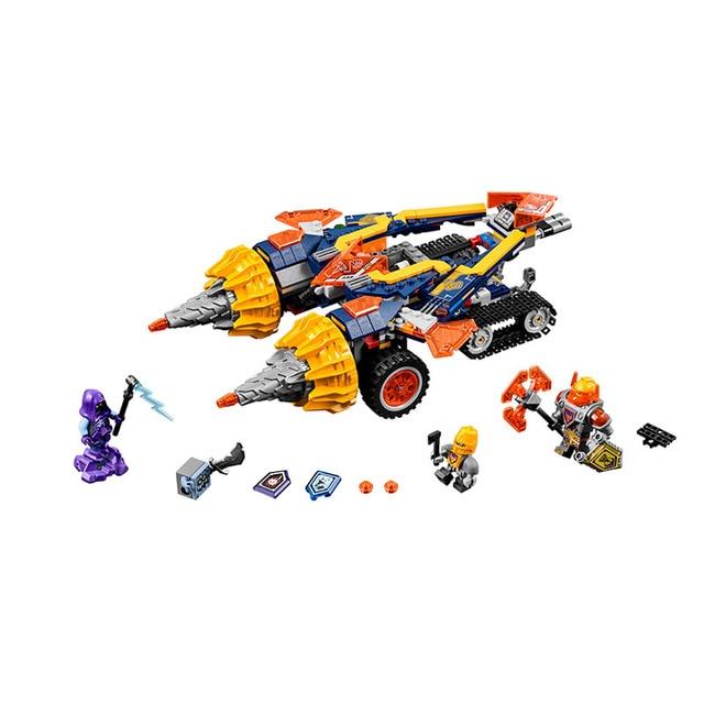 BELA BELA 10703 Pogo Compatible Legoe Nexus Nexo Knights Powers Pouvoirs Aaron Lance Clay Building Blocks Bricks Toys