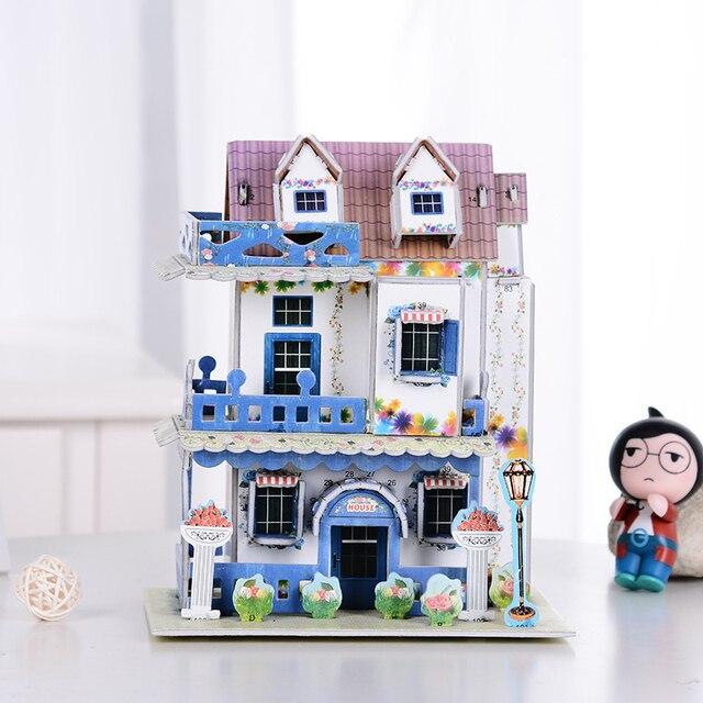 Diy Frankreich U0026 England Stil Haus Gebäude Modell 3d Puzzle Hochwertigen  Schloss Villa Gebäude Puzzle Spielzeug