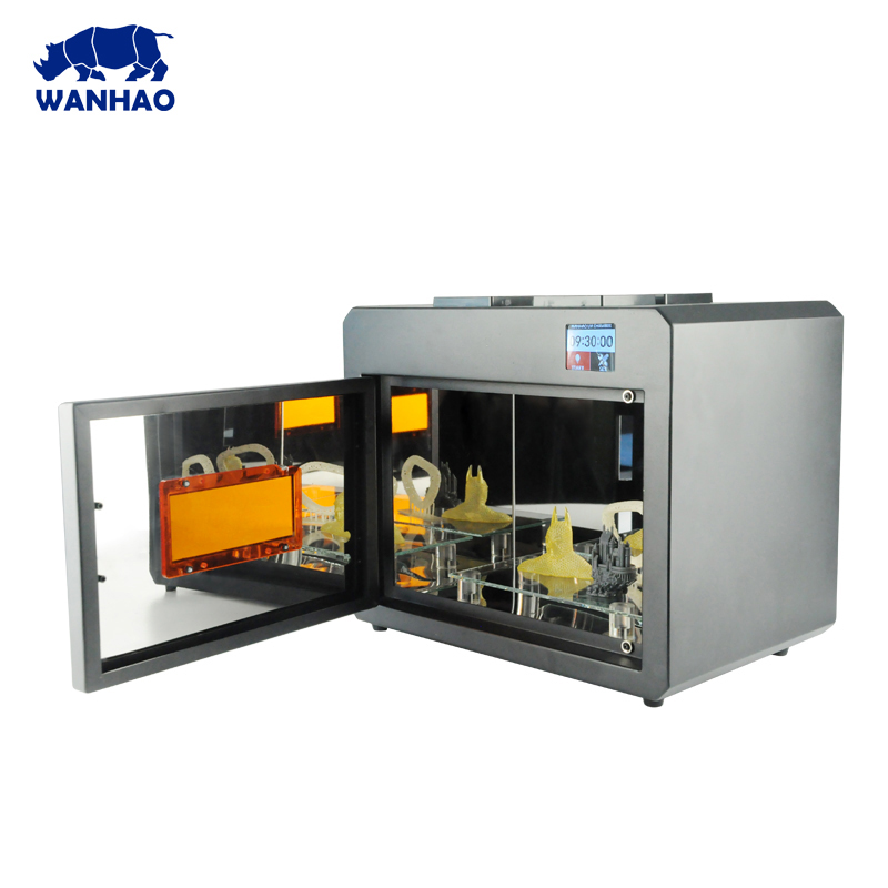 WANHAO Caixa Para A Cura de 3D Modelo de Impressão de Cura UV LED Com Super Sistema de Refrigeração Caixa de Aço Inoxidável Super Clean Wanhao boxman