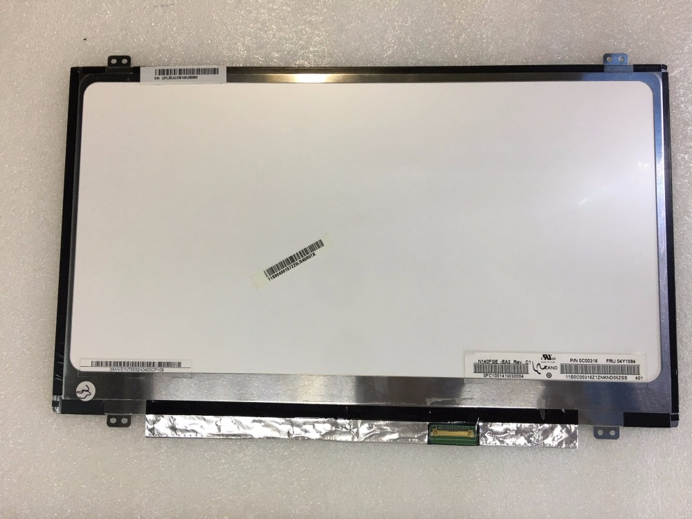 GrassRoot 14 inch LCD Screen LTN140KT13 301 fit N140FGE-EB1 N140FGE-EA2 B140RTN03.0 B140RTN02.3 eDP 30 pin Display Panel saniter apply to hp 840 g2 lcd screen display ltn140kt13 n140fge ea2 14 inch 30 pin laptop lcd screen