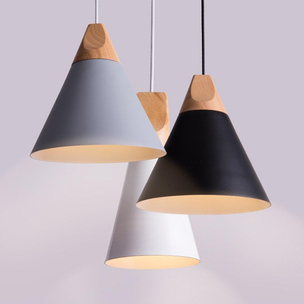 Modern Wood Pendant Lights Lamparas Colorful Aluminum Lampshade Russia Luminaria Dining Room Lights Lustres Bedside Pendant Lamp цена