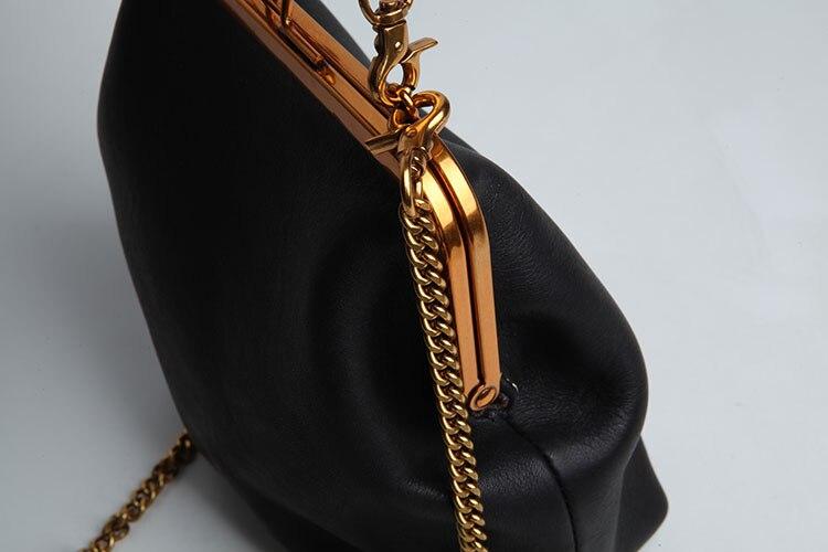 2019 new vintage bag women's handbags leather PU chain shoulder crossbody bags (13)