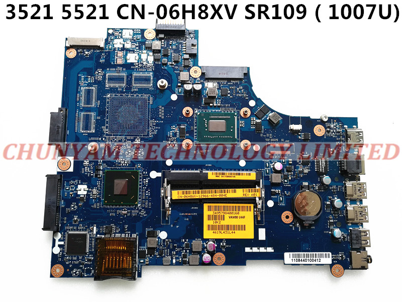 KEFU CN-06H8WV 6H8WV FOR DELL INSPIRON 3521 5521 laptop motherboard VAW00 LA-9104P REV:1.0 1007U mainboard NOTEBOOK PC