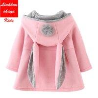 Kids Bunny Jacket Winter Clothes Warm Girl Rabbit Spring Cute Coat Children Toddler Outwear Baby Hood