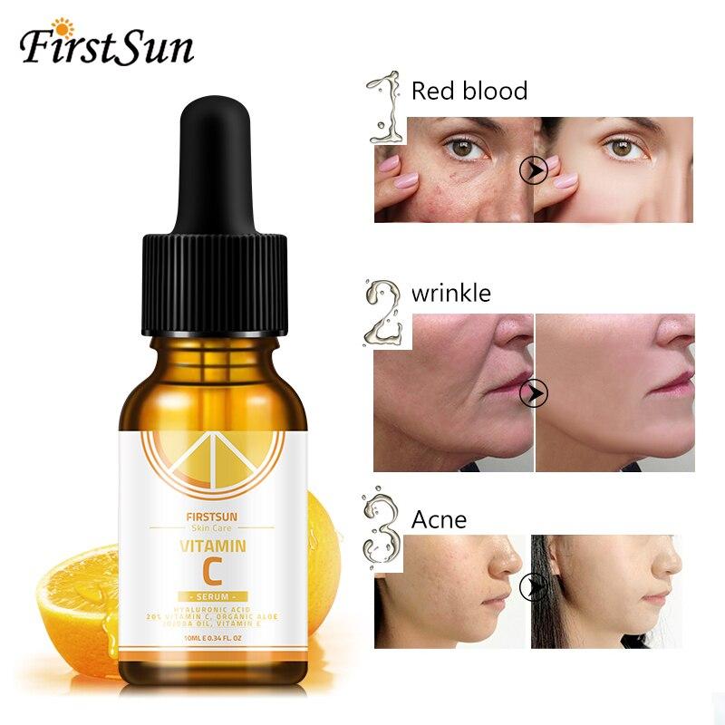 Vitamin C Hyaluronic Acid Face Serum Wonder Liquid Skin Serum Essence Anti Aging Fade Dark Spot Wrinkle Moisturizing Skin Care in Serum from Beauty Health