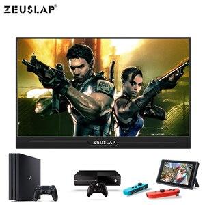 Image 4 - 13.3 Inç IPS oyun monitörü 1920x1080 HD ince Taşınabilir HDMI monitör, Ses Çıkışı, USB Güçlendirilmiş, dahili Hoparlör PS4