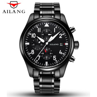 6 Hands Men's Waterproof 50M Luminous Military Pilots Watch AILANG Top Brand Mechanical Watch Men Sports Series Luxury Watches