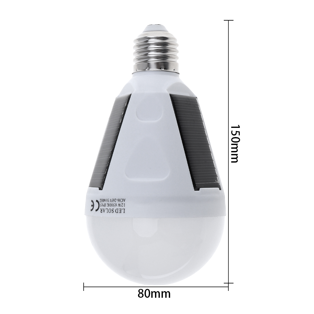 12W Waterproof LED Solar Light Bulb Portable Emergency Lamp with Hang Hook for Outdoor Garden Camping Hiking Fishing in Solar Lamps from Lights Lighting