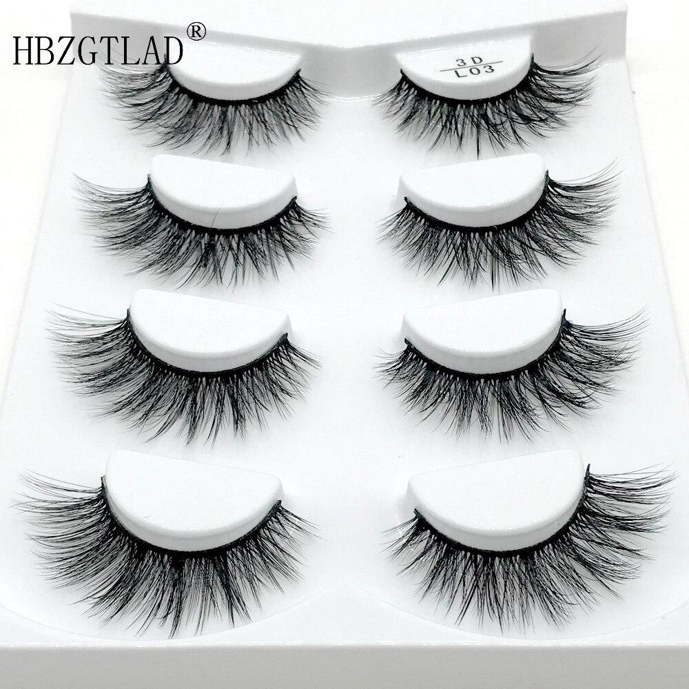 93c31eb31b4 HBZGTLAD 2/4/7 pairs natural false eyelashes fake lashes long makeup 3d mink