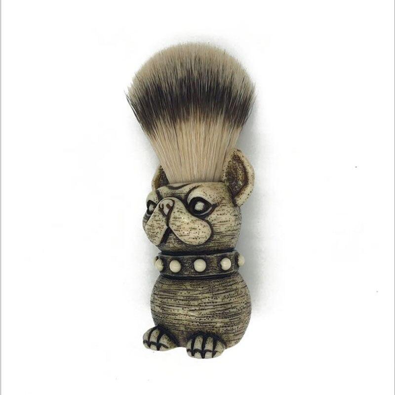 2017 Beard Brush dog Head Badger Hair brush Man Shaving Brush Makeup brush 2