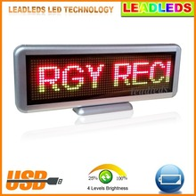 3 Color Moving Led Display Board Rechargeable Programmable (Stand up or Hang)