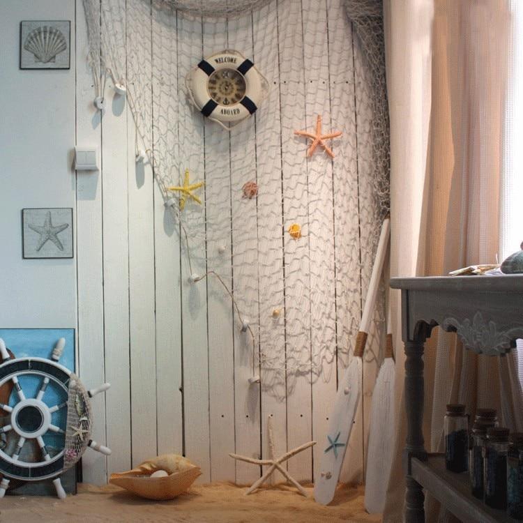 Mediterranean style fishing net decor cotton fabric for Fishing net decor