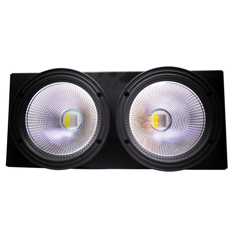 4 pcs/lot 200 W Blanc Chaud Blanc Froid (RGBW 4IN1) LED COB Éclairage de Scène Avec Éclairage Coloré Effet Pour Stade Parti De Mariage