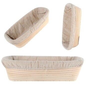 Cesta de pan Banneton Brotform ratán a prueba de revestimiento de cesta redonda ovalada bandeja de fruta masa almacenamiento de alimentos organizador de cestas