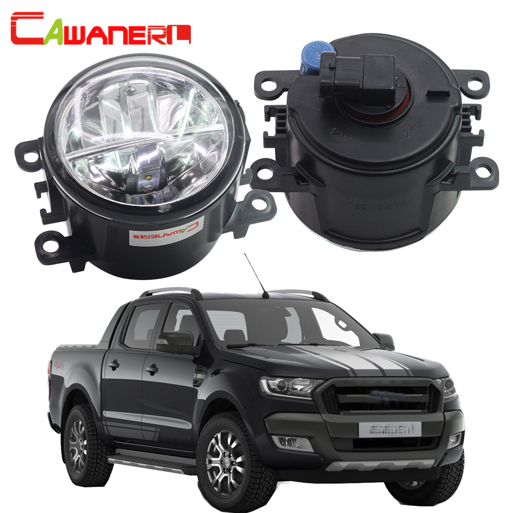 Cawanerl 2 Pieces H11 Car Styling LED Bulb Fog Light 4000LM White 6000K Daytime Running Lamp DRL 12V For Ford Ranger 2005-2015 2x 80w h7 led bulb 16 smd osram car fog light dc 12v 24v 360 degree 760lm white fog light 6000k drl fog lamp light sourcing