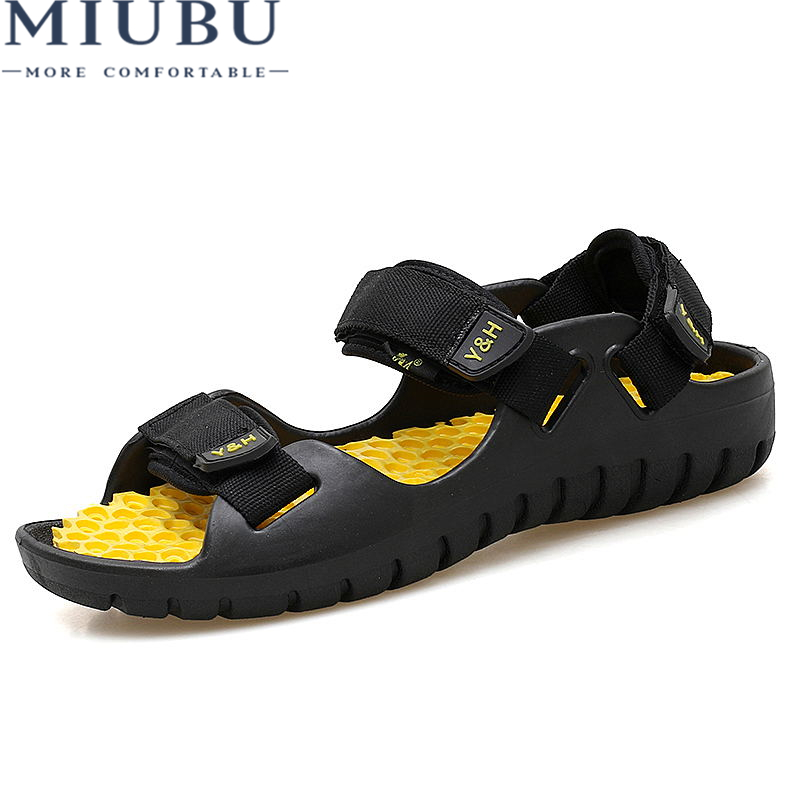 MIUBU Rubber bottom Massage Sandals Massage Brand Men Summer Beach Clogs Hole Breathable Outdoor Water Shoes Cool Comfortable